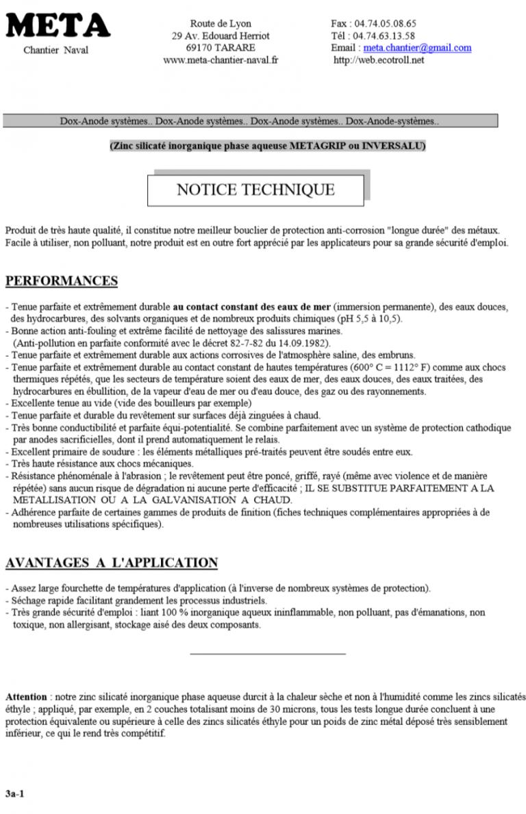 notice technique